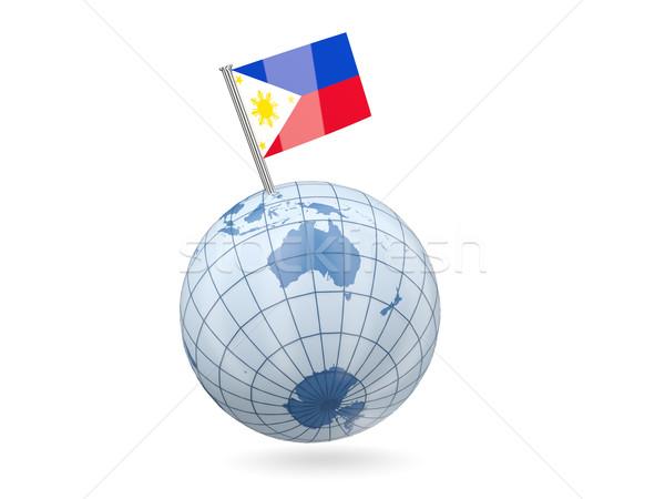 Globe with flag of philippines Stock photo © MikhailMishchenko