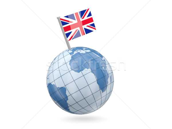 Mondo bandiera Regno Unito blu isolato bianco Foto d'archivio © MikhailMishchenko
