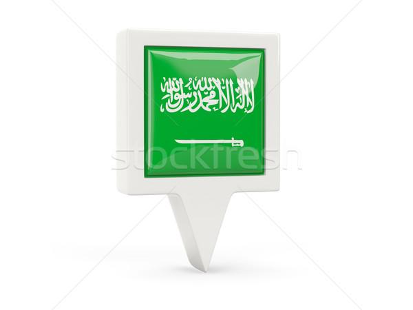 Square flag icon of saudi arabia Stock photo © MikhailMishchenko