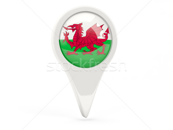 Round flag icon of wales Stock photo © MikhailMishchenko