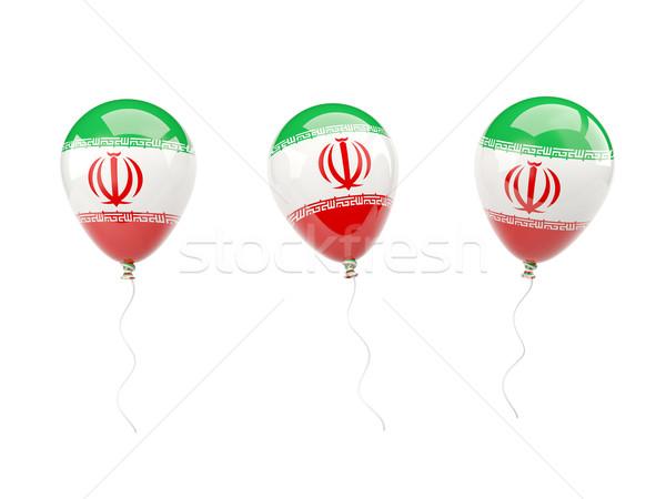 Lucht ballonnen vlag Iran geïsoleerd witte Stockfoto © MikhailMishchenko