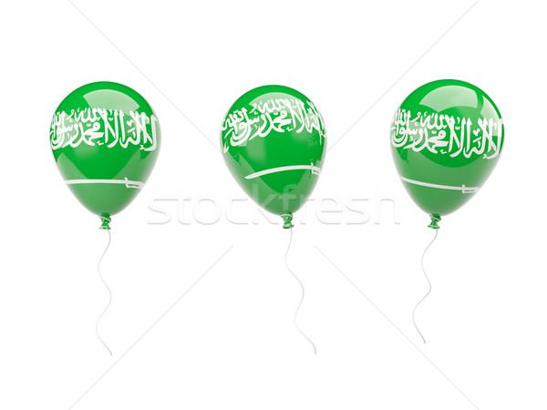 Air balloons with flag of saudi arabia Stock photo © MikhailMishchenko