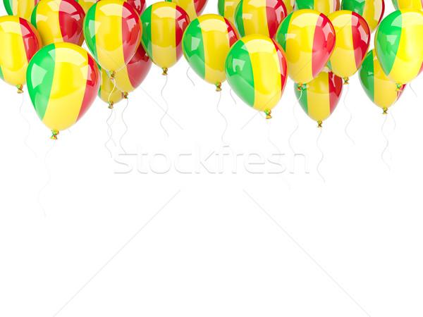 Сток-фото: шаре · кадр · флаг · Мали · изолированный · белый