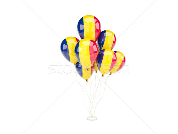 Flying balloons with flag of chad Stock photo © MikhailMishchenko