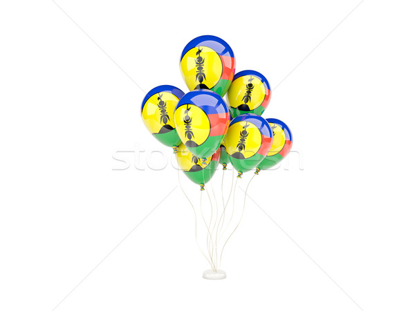 Flying balloons with flag of new caledonia Stock photo © MikhailMishchenko