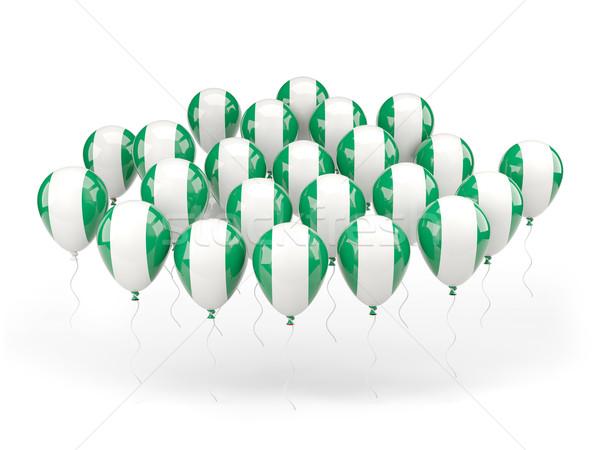 Balonlar bayrak Nijerya yalıtılmış beyaz ülke Stok fotoğraf © MikhailMishchenko
