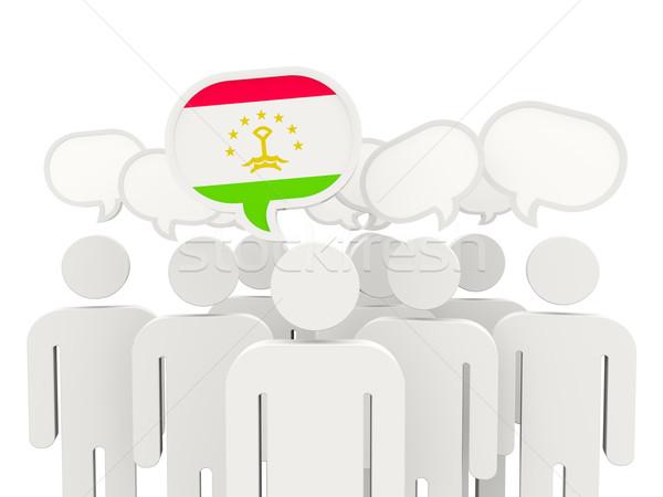 People with flag of tajikistan Stock photo © MikhailMishchenko