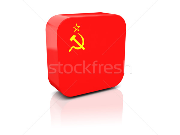 Square icon with flag of ussr Stock photo © MikhailMishchenko