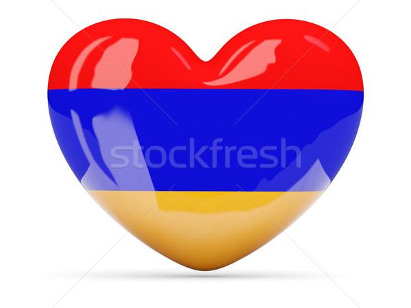 中心 アイコン フラグ アルメニア 孤立した ストックフォト © MikhailMishchenko