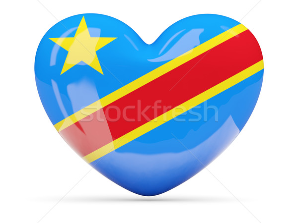 Corazón icono bandera Congo aislado Foto stock © MikhailMishchenko