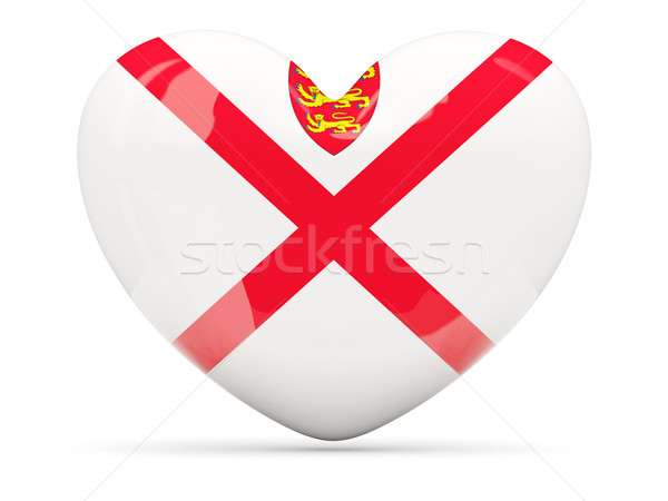 Heart shaped icon with flag of jersey Stock photo © MikhailMishchenko