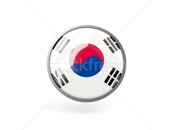 икона флаг Южная Корея металл кадр путешествия Сток-фото © MikhailMishchenko