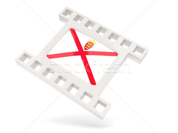 Movie icon with flag of jersey Stock photo © MikhailMishchenko