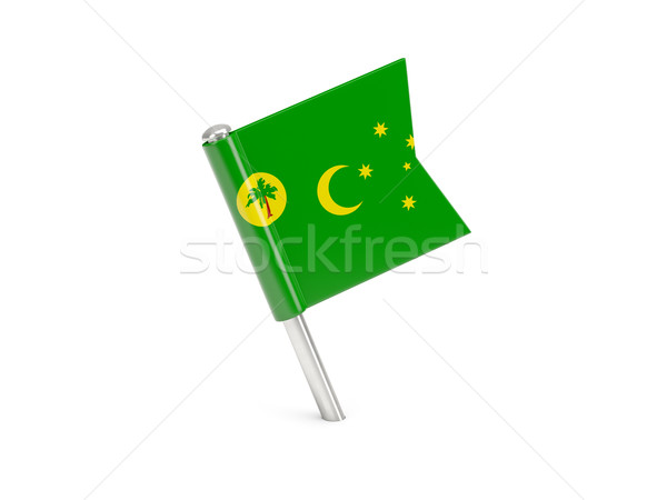 Flag pin of cocos islands Stock photo © MikhailMishchenko