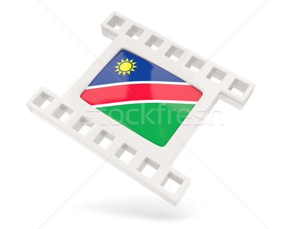 Film ikon bayrak Namibya yalıtılmış beyaz Stok fotoğraf © MikhailMishchenko