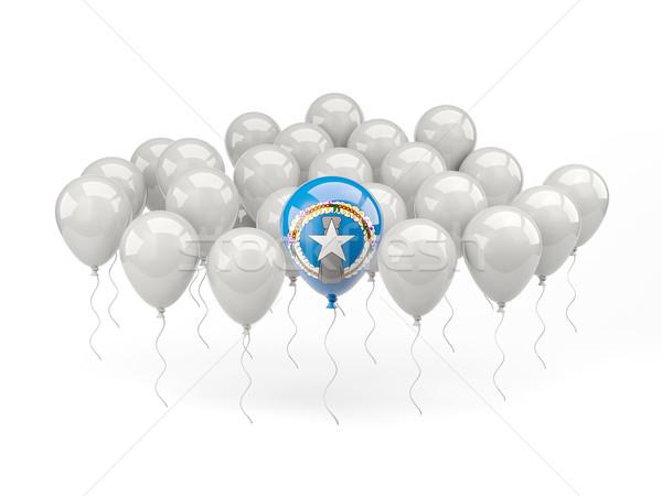Lucht ballonnen vlag noordelijk eilanden geïsoleerd Stockfoto © MikhailMishchenko