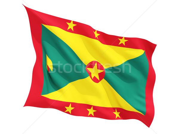 Integet zászló Grenada izolált fehér Stock fotó © MikhailMishchenko