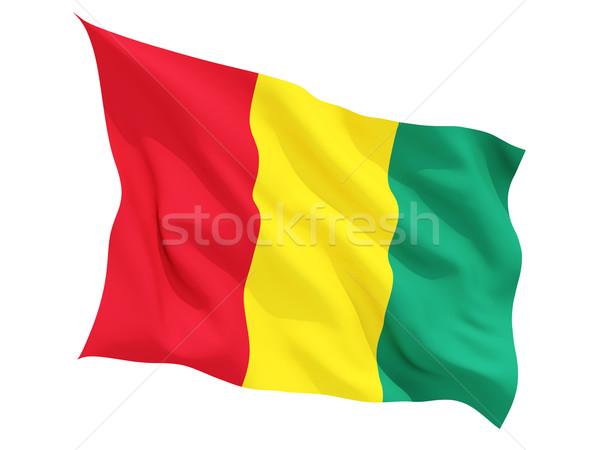 Bandeira Guiné isolado branco Foto stock © MikhailMishchenko