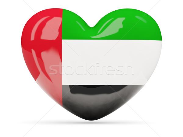 Coração ícone bandeira Emirados Árabes Unidos isolado Foto stock © MikhailMishchenko