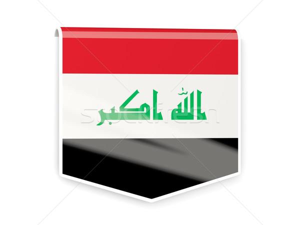Vlag label Irak geïsoleerd witte teken Stockfoto © MikhailMishchenko