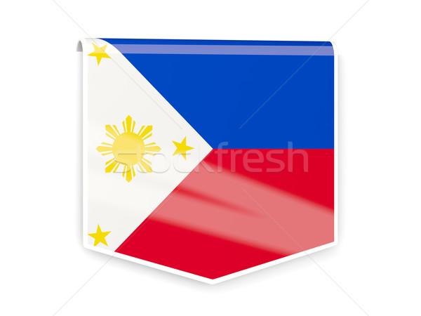 Bandeira etiqueta Filipinas isolado branco mundo Foto stock © MikhailMishchenko