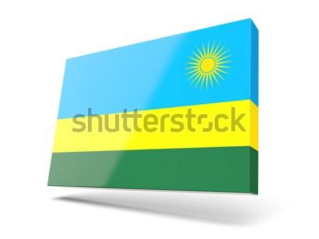Pavillon étiquette Rwanda isolé blanche monde Photo stock © MikhailMishchenko