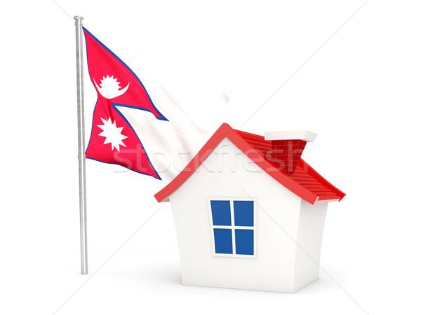 House with flag of nepal Stock photo © MikhailMishchenko