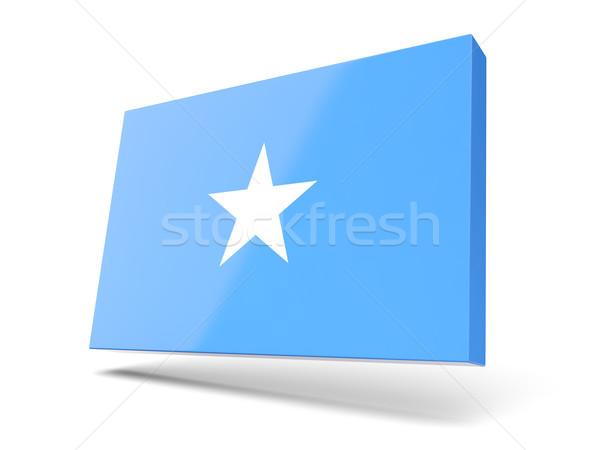 Placu ikona banderą Somali odizolowany biały Zdjęcia stock © MikhailMishchenko