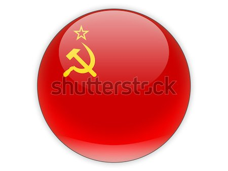 Round icon with flag of ussr Stock photo © MikhailMishchenko