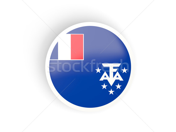 Round sticker with flag of french southern territories Stock photo © MikhailMishchenko