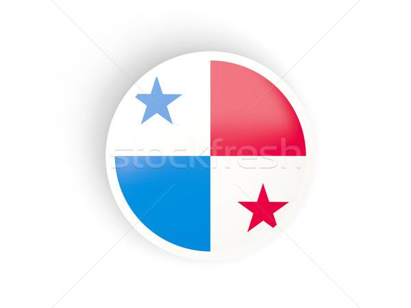 Matrica zászló Panama izolált fehér utazás Stock fotó © MikhailMishchenko