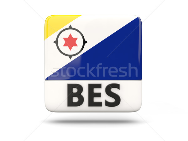 Square icon with flag of bonaire Stock photo © MikhailMishchenko