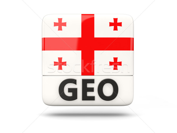 квадратный икона флаг Грузия iso Код Сток-фото © MikhailMishchenko