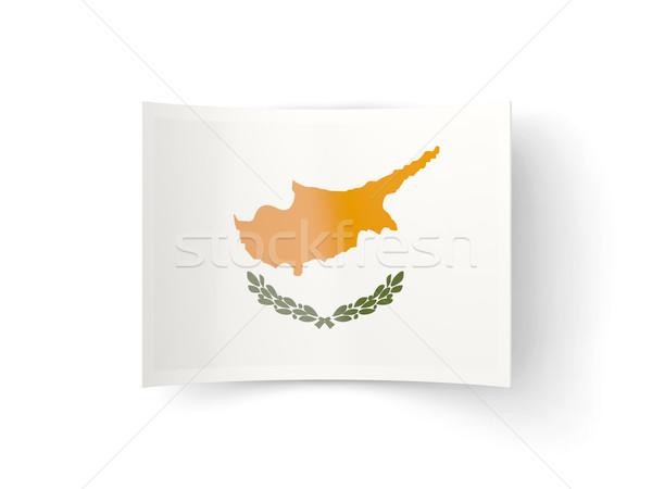 Icon vlag Cyprus geïsoleerd witte land Stockfoto © MikhailMishchenko