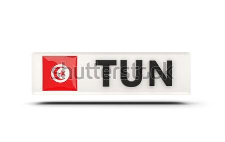 любви Тунис знак изолированный белый флаг Сток-фото © MikhailMishchenko