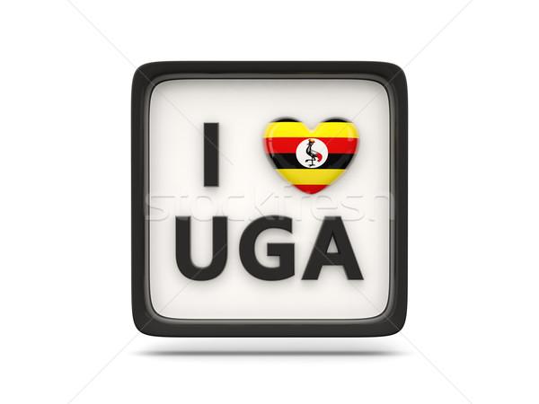 Amore Uganda segno isolato bianco cuore Foto d'archivio © MikhailMishchenko