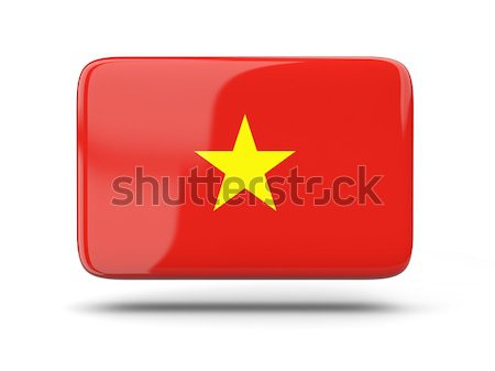 квадратный икона флаг Вьетнам тень знак Сток-фото © MikhailMishchenko