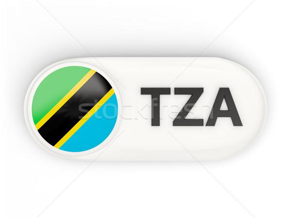 Ikona banderą Tanzania iso kodu kraju Zdjęcia stock © MikhailMishchenko