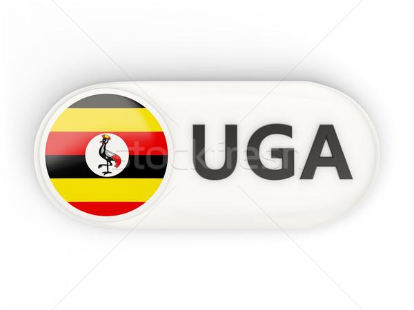 Icône pavillon Ouganda iso code pays Photo stock © MikhailMishchenko
