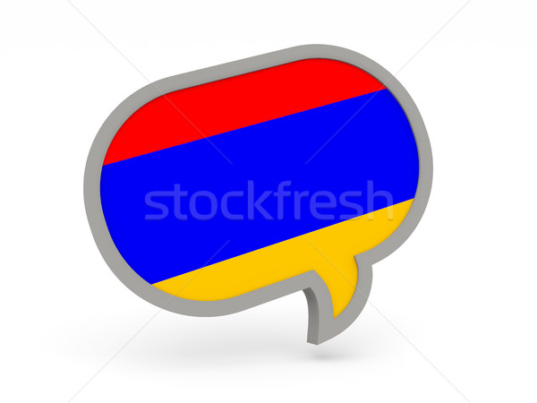 чате икона флаг Армения изолированный белый Сток-фото © MikhailMishchenko