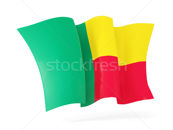 Bandiera Benin illustrazione 3d isolato bianco Foto d'archivio © MikhailMishchenko