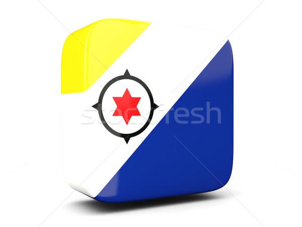 Square icon with flag of bonaire square. 3D illustration Stock photo © MikhailMishchenko