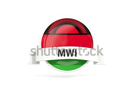квадратный икона флаг Малави 3d иллюстрации изолированный Сток-фото © MikhailMishchenko