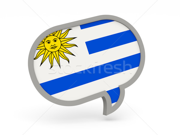 чате икона флаг Уругвай изолированный белый Сток-фото © MikhailMishchenko