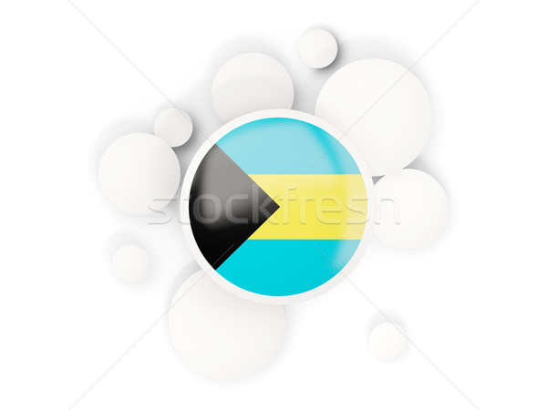 Round flag of bahamas with circles pattern Stock photo © MikhailMishchenko