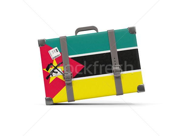 Камера флаг Мозамбик чемодан изолированный белый Сток-фото © MikhailMishchenko