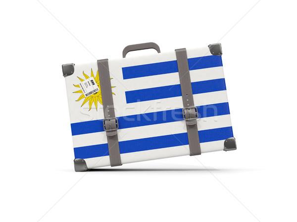 Камера флаг Уругвай чемодан изолированный белый Сток-фото © MikhailMishchenko