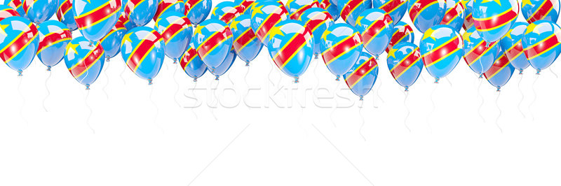 Balloons frame with flag of democratic republic of the congo Stock photo © MikhailMishchenko