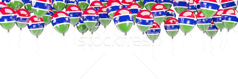 Ballons cadre pavillon Gambie isolé blanche Photo stock © MikhailMishchenko