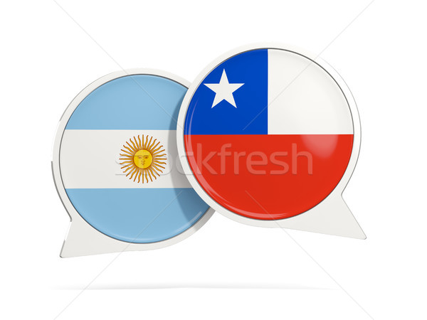 Chat bubbles of Argentina and Chile isolated on white Stock photo © MikhailMishchenko
